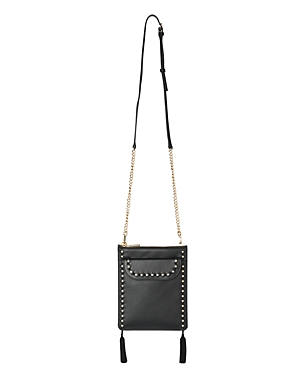 Studded Clutch Black Gold Leather Tassel Whistles TYqOxHnY