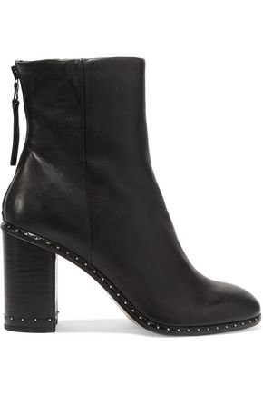 Rag Black Blyth Studded Bone and Boots Ankle Leather Px7wP