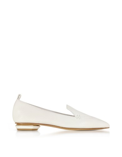 Nicholas Kirkwood Shoes Beya White Leather Loafer rCCgT