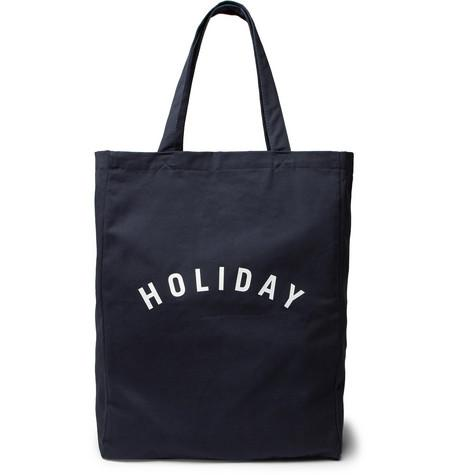 Holiday Boileau Printed Cotton Twill Tote Bag Navy gHtxWK