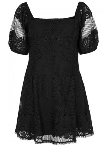Free People Not Your Baby Black Lace Mini Dress yLElx