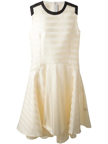 J Dress Nude Striped Lee Js Neutrals And Flared TzrIqzxw