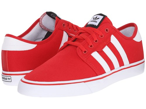 adidas Skateboarding Seeley Scarlet Black White Men's Skate Shoes Red d8hpiECWA