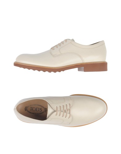 Tod's Lace Up Shoes Ivory WTPSA