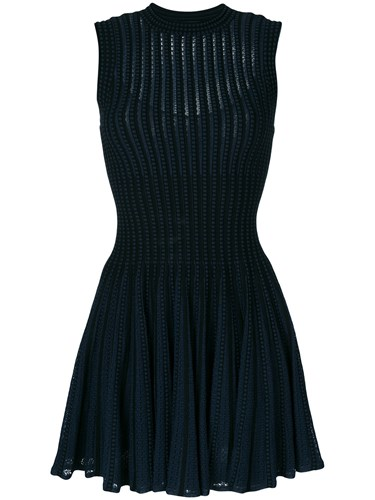Theory Slim Fit Knitted Dress Blue SggEK