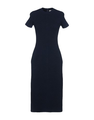 Stefanel Knee Length Dresses Dark Blue DUlkQQ4