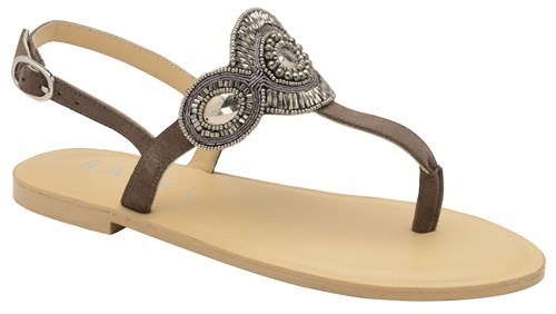 Ravel Palo Flat Sandals Grey hCRZQ