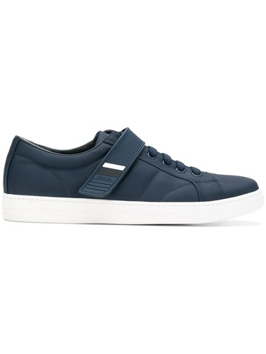 Prada Touch Strap Sneakers Nylon Leather Rubber Blue G5916aFRR