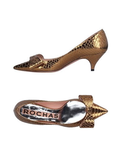 Rochas Pumps Gold DQH4MvTEm