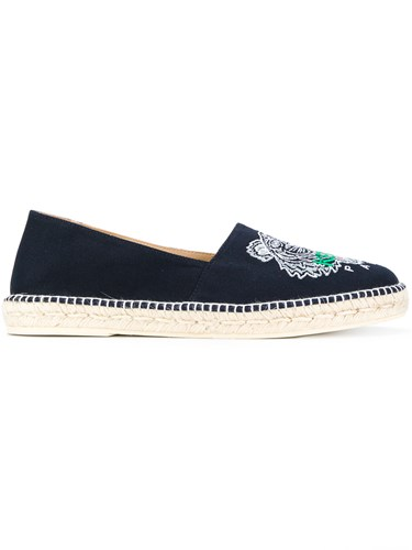 Kenzo Tiger Embroidered Espadrilles Black Oe2ovWpgAL