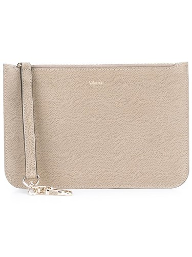 Valextra Zipped Pouch Nude Neutrals TVAgs5F