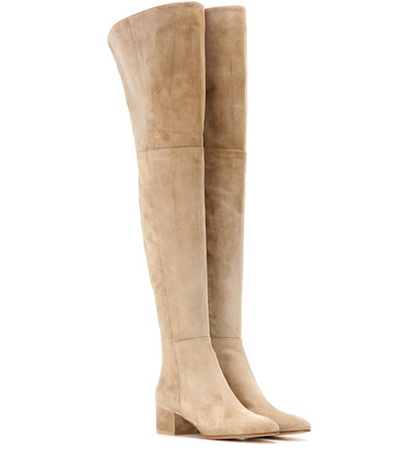 Over Mid Rolling Knee Gianvito The Suede Beige Rossi Boots EwRnwqIfx
