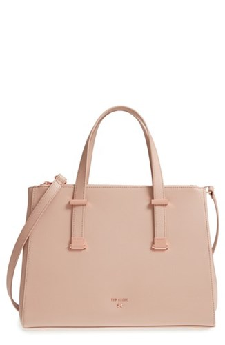 Ted Baker London Aminaa Large Adjustable Handle Leather Shopper Pink Mink wMAahCE