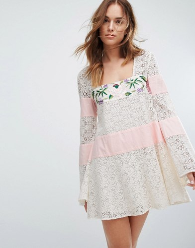 Majorelle Embroidered Lace Grove Dress White W3ee63o5Ad