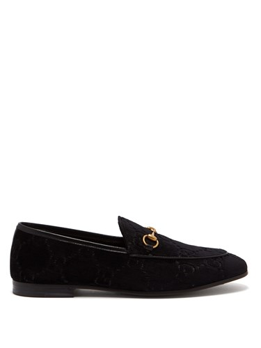 Jordaan Gg Velvet Loafers Black
