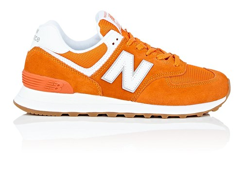 New Balance 574 Suede And Mesh Sneakers Orange zb5T4pZ1xU