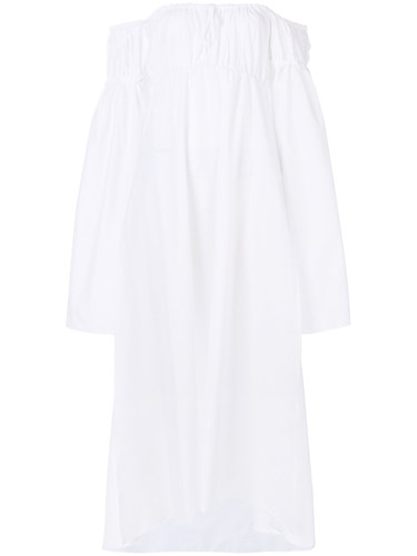 White The Dress Midi Attico Off Shoulder nqxSXF1