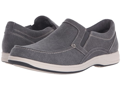 Florsheim Lakeside Moc Toe Slip On Grey Canvas Grey Suede Slip On Shoes Gray RjKyzF