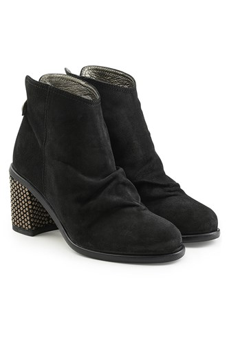 Fiorentini + Baker Suede Ankle Boots With Embellished Heel Black 8yKz8