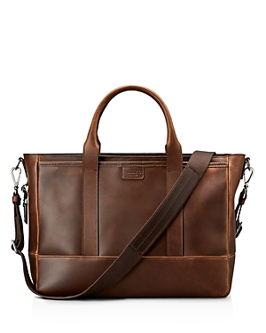 Shinola Navigator Distressed Leather Briefcase Tote Medium Brown lc3KN5T3Zk