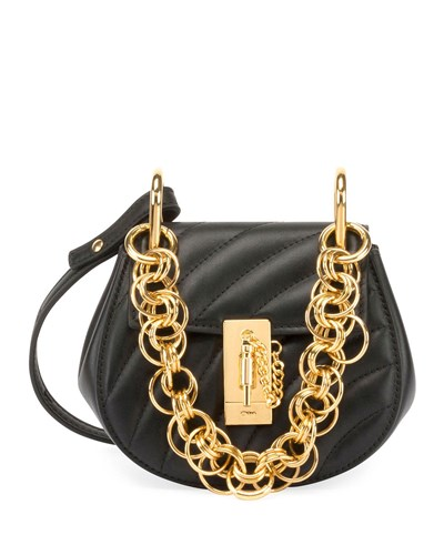 Chloé Mini Drew Bijou Shoulder Bag Black gW6VRhX