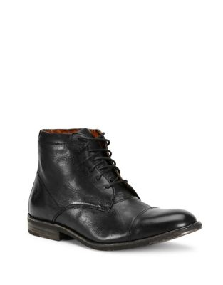 Frye Sam Lace Up Leather Ankle Boots Black dtcrFUtGn