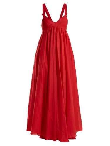 Three Graces London Janie Ramie Dress Red rZQve8xD6