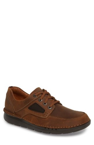 Clarks Unnature Time Lace Up Tan Leather 4zq90u8