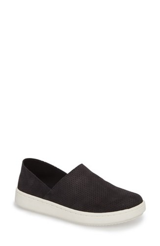 On Nubuck Perforated Panda Black Sneaker Fisher Slip Women's Eileen wxfBO