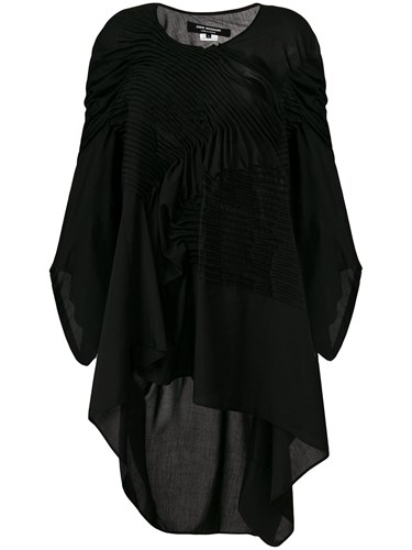 des Dress Comme Asymmetric Garcons Black Watanabe Pleated Junya dxd4CnHU
