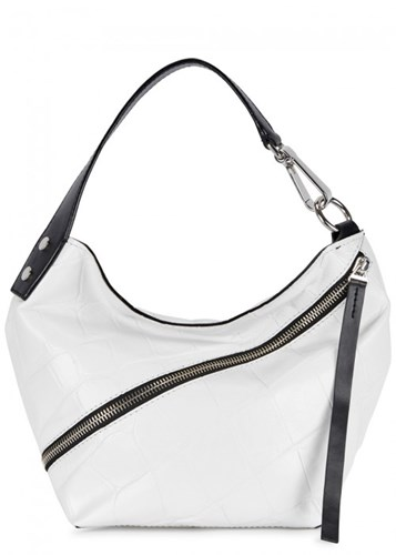 Proenza Schouler Small Embossed Croc Leather Hobo Bag White 31jeGwhwq