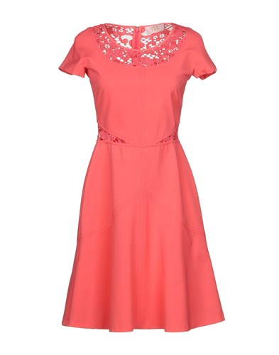 Via Delle Perle Vdp Collection Knee Length Dresses Coral xFYYKd3