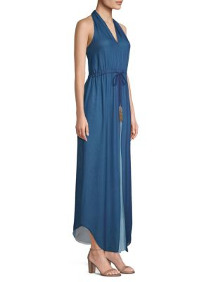 Ramy Brook Daphne Silk Maxi Dress Navy ARvn7