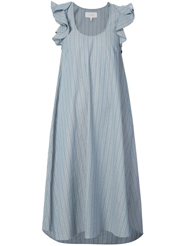 Dress Cotton Great Midi Striped The Blue CfSqYS