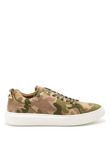 Buscemi Uno Low Top Suede Trainers Khaki Multi pBcpl