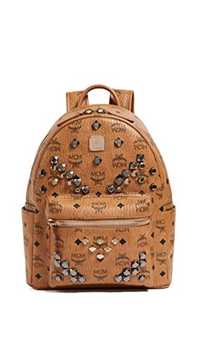 MCM Cognac Backpack Small M Stud Stark rWwq7Xrxv8