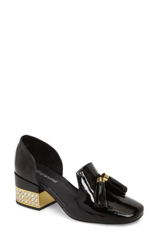 Jeffrey Campbell Genial Statement Heel D'orsay Pump Black Patent Leather pp55oy