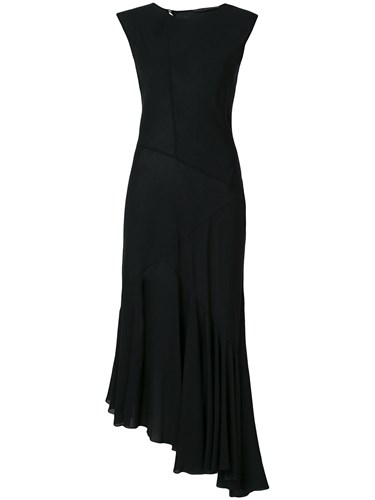 Asymmetric Hem Simonetta Ruffle Dress Ravizza Black t5tHrAqx
