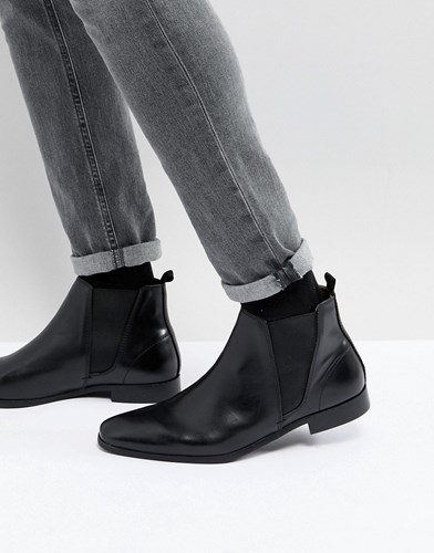 Zign Leather Chelsea Boots In Black OIkWgDG
