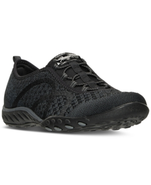 Skechers Women's Relaxed Fit Breathe Easy Fortuneknit Casual Walking Sneakers From Finish Line Black FqB6MifW
