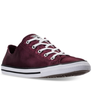 Converse Women's Chuck Taylor Dainty Satin Casual Sneakers From Finish Line Dark Sangria 5r1orp