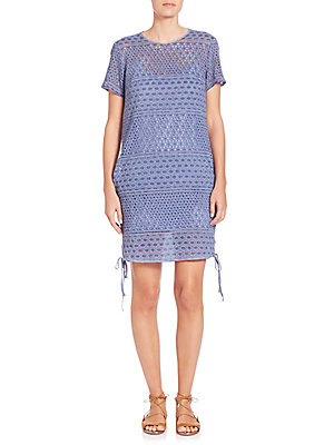 Prose & Poetry Lexa Tie Shift Dress Lilac Blue Jxqs4