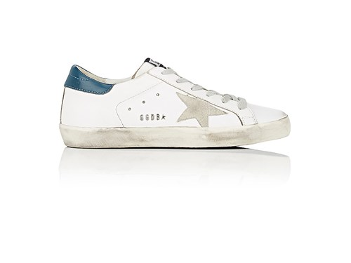 Golden Goose Women's Women's Superstar Leather Sneakers White Blue Light Grey X2YK9