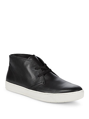 Boots Chukka Leather Round Vince Black Toe OUqyZccP
