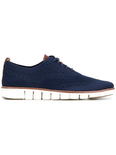 Cole Haan Brogue Detail Lace Up Shoes Blue jYttt