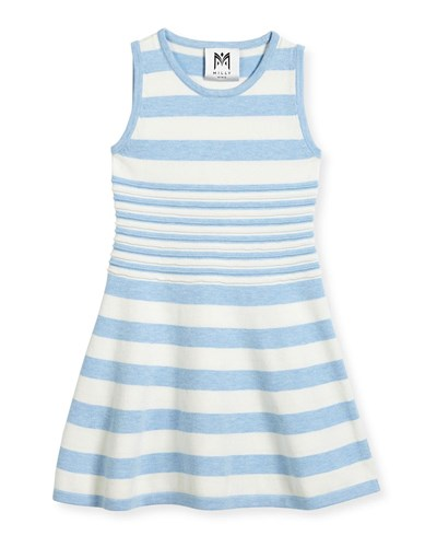 Milly Minis Striped Knit Flare Dress Blue White Size 4 7 Blue White M1OioD