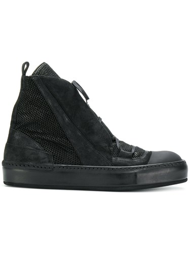 Lost & Found Ria Dunn Panelled Sneakers Lamb Skin Leather Rubber Black 4zKfK