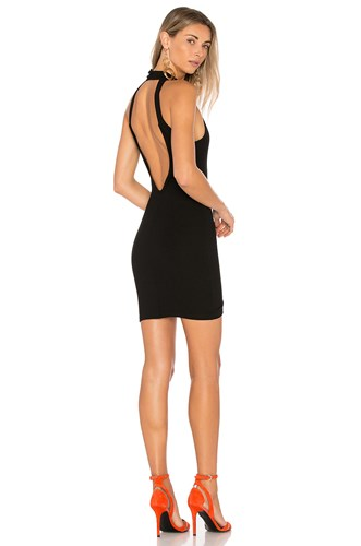 By The Way Way. Gracia Halter Bodycon Dress Black 4m8vCpf