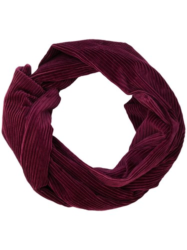 Ribbed Scarf Cotton Pink Purple