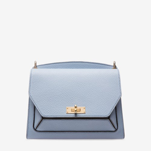 Bally Women's Grained Goat Leather Shoulder Bag In Ocean Spray Blue pOhYwRdjt